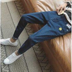 优凡士品 - 刺绣哈伦牛仔裤