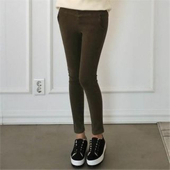 CHICFOX - Fleece-Lined Leggings Pants