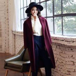 Romantica - Wool Blend Single-Button Coat