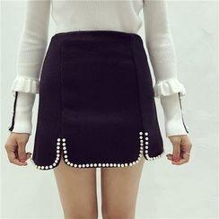 Octavia - Embellished A-Line Skirt