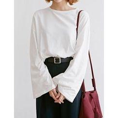 FROMBEGINNING - Round-Neck Kimono-Sleeve T-Shirt