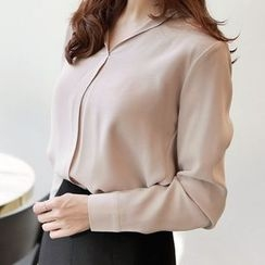 Seoul Fashion - Open-Placket Blouse