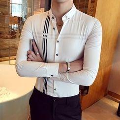 Orizzon - Long-Sleeve Striped Shirt
