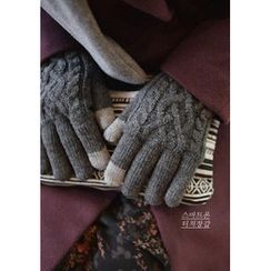 GOROKE - Cable-Knit Gloves