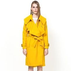 YiGelila - Belted Layered Trench Coat