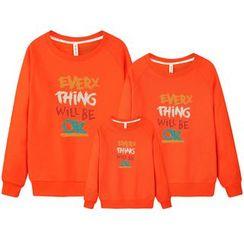 Panna Cotta - Family Matching Lettering Sweatshirt