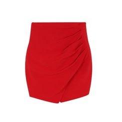 GUMZZI - Shirred Miniskirt