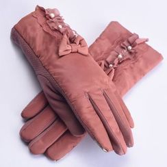 RGLT Scarves - Paneled Lace Bowed Gloves