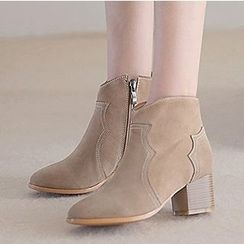 Gizmal Boots - Block Heel Ankle Boots