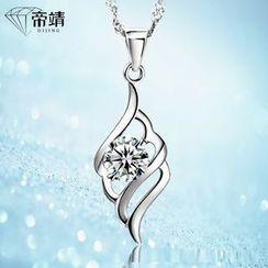 DIJING - Rhinestone Pendant Necklace