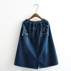 Angel Love - A-Line Denim Skirt