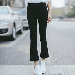 Tonya - Cropped Boot Cut Pants