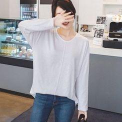 mimi&didi - Round-Neck Seam-Front T-Shirt