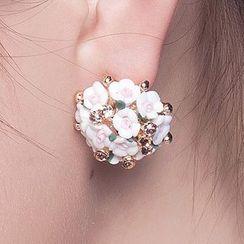Suaylla - Bridal Flower Earrings
