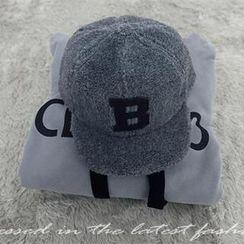 NANING9 - Lettering Fleece Baseball Cap