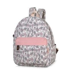 SUPER LOVER - Owl Print Lightweight Backpack