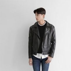 Seoul Homme - Slim-Fit Rider Jacket