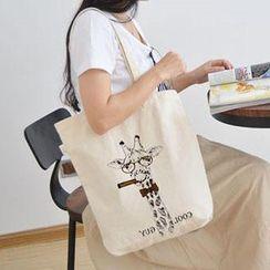 Aoba - 長頸鹿印花購物袋