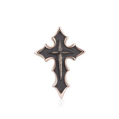 MBLife.com - Left Right Accessory - Halloween 925 Sterling Silver Pointed Gothic Cross Single Stud Earring, Unisex Jewelry Accessory