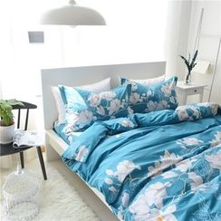 Petrie - Bedding Set: Floral Print Duvet Cover + Bed Sheet + Pillowcase