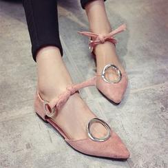 BAYO - 尖頭蝴蝶結平跟鞋