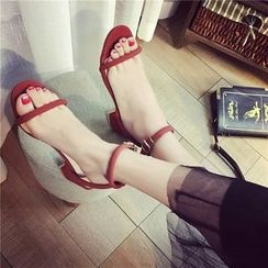 BAYO - Ankle Strap Block Heel Sandals