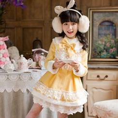 糖果雨 - 小童长袖蕾丝边连衣裙