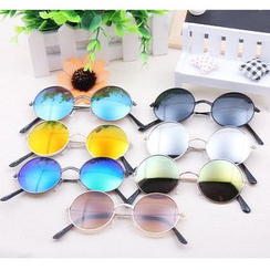 GLAMAX - Mirrored Round Sunglasses