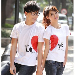 Porspor - Short-Sleeve Printed Couple T-Shirt