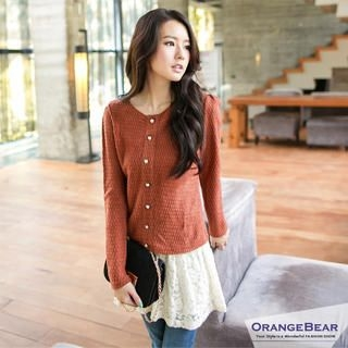 OrangeBear - Mock Two-Piece Dress
