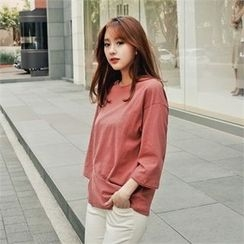 Styleberry - 3/4-Sleeve Flap-Front T-Shirt