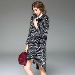 Y:Q - Patterned Wool Blend Coat