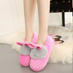 EMIL - Polka Dot Rabbit Ear Snow Slip-Ons