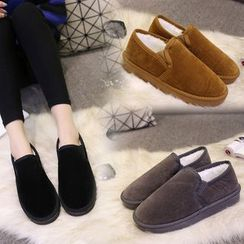 Bayrose - Couple Matching Fleece-Lined Slip-Ons