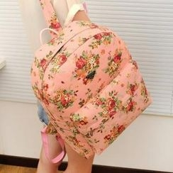QeQ - Floral Canvas Backpack