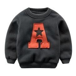 DEARIE - Kids Letter Applique Pullover