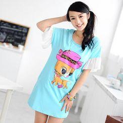 59 Seconds - Flutter Sleeve T-Shirt Dress