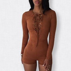 Merma - Lace-Up Playsuit