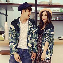 Azure - Couple Camouflage Baseball Jacket