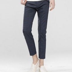 HEIZE - Window Pane Cropped Slim Fit Pants