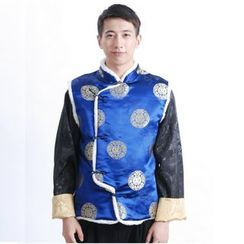 Golden Flowers - Chinese Style Vest