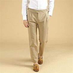 THE COVER - Pleated-Front Belted Pants
