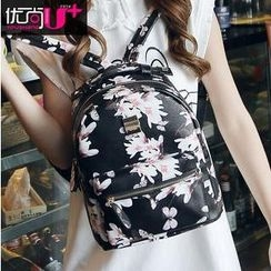 Youshine - Floral Faux Leather Backpack