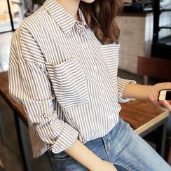 OTTI - Striped Pocketed Shirt