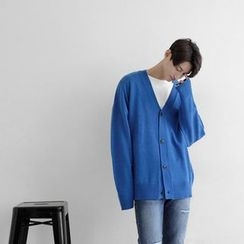 Seoul Homme - V-Neck Colored Cardigan