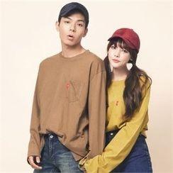 Superstar.i - Couple Colored Pocket-Front T-Shirt