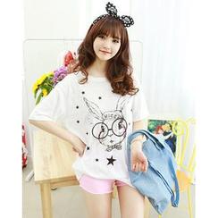 Dodostyle - Rabbit Print T-Shirt