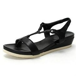MODELSIS - Braided-Strap Thong Sandals