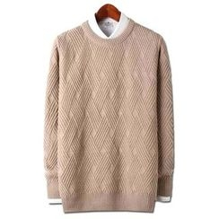 Seoul Homme - Colored Patterned Sweater