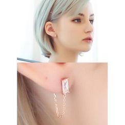 kitsch island - Chain Drop Earrings